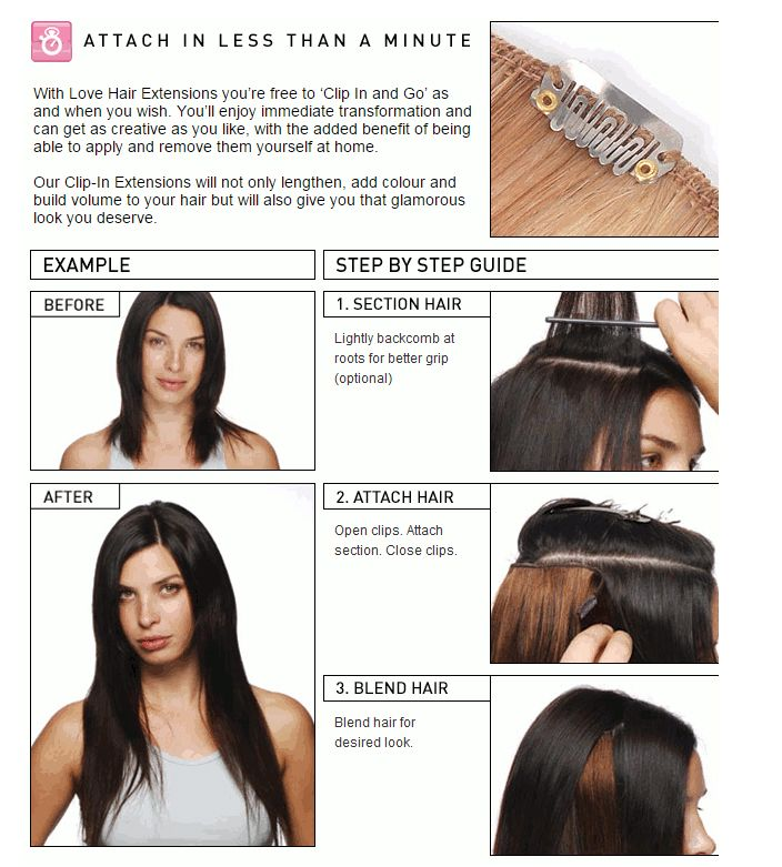 Love Hair Extensions Easy 2 Extend Human Hair Clip In Extensions 18